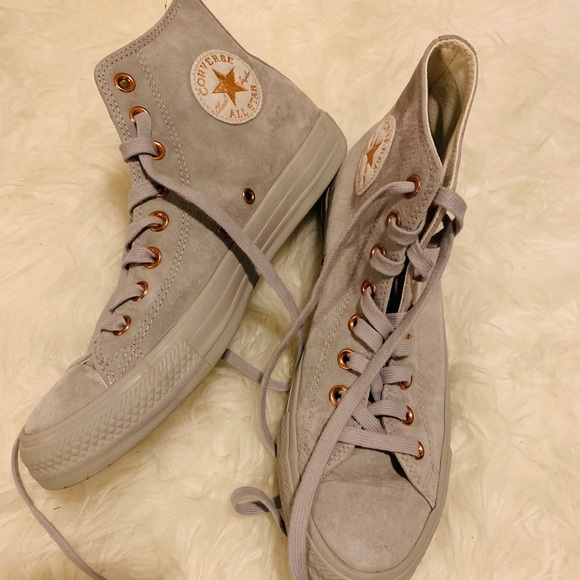 eb57220a149 Converse Rose Gold   Grey Suede sneakers